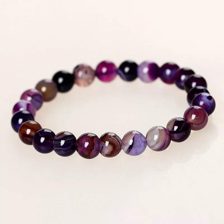Shree Narayani Natural Purple Popular overseas Onyx Ranking TOP19 6mm Roun Quality AAA bracelet