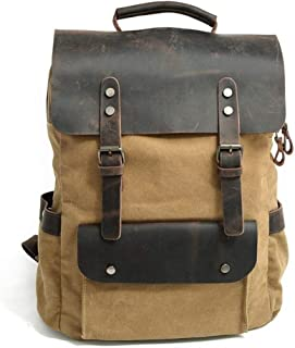 Canvas Camping Large Capacity Fashion Backpack Outdoor Travel Day Bag Travel Backpack (Color : Yellow, Size : 30cm*11cm*38cm)