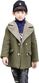 Sufoen 子供 防寒 折り襟 ラシャコート ボーイズ ジャケット 中綿 テラジャケ コート ロング丈 キッズ 男の子 冬