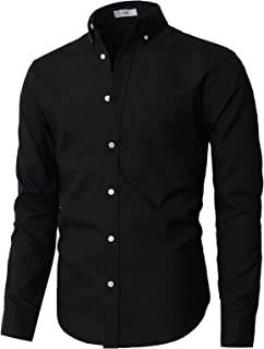 Mens Casual Button-Down Shirts Oxford Long Sleeve Basic Designed of Various Styles