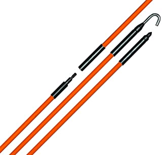 Eagle Tool US ETF25016 Wire and Cable Installer Fiberglass Fish Rod Kit, 16-Foot assembled length, Made in the USA