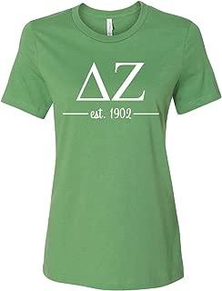 Delta Zeta Women's Relaxed Fit Short Sleeve Jersey Tee