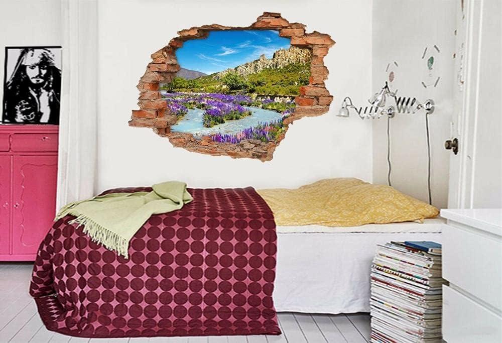 GTRB Wall National uniform free shipping Sticker 3D Purple Hanada Murals Decal Breakt Ranking TOP20