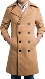Mens Trench Coat 2019 Men Long Coat Autumn Winter Jacket Windproof Slim Coat Men Plus Size