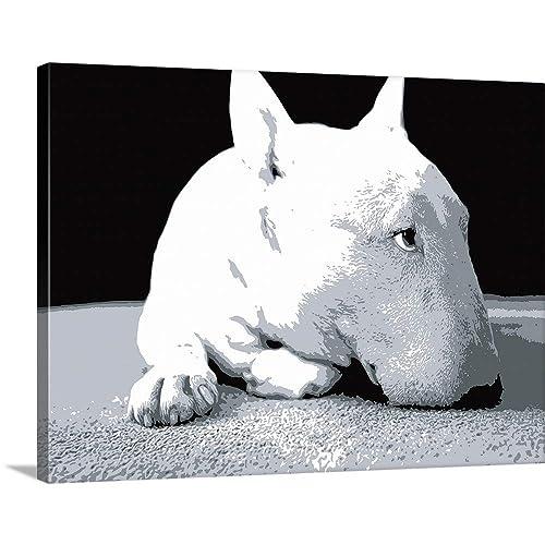 e1b8f7793d7 Michael Tompsett Premium Thick-Wrap Canvas Wall Art Print entitled English  Bull Terrier