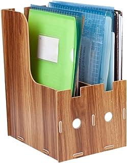 Holzzerner organizer do papieru A4 Document Organizer pudełko do sortowania papieru do dokumentów biurowych, listów, e-mai...