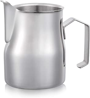 Magicafé Milk Frother Pitcher - Stainless Steel Latte Art Espresso Cappuccino Metal Steaming Milk Frothing Jug Medium 20 oz/600ml