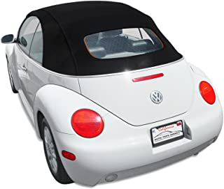 Sierra Auto Tops Convertible Top Compatible with 2003-2010 Volkswagen Beetle, Manual Opening, Stayfast Canvas, Black