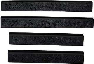 Auto Ventshade 91114 Protetor de porta preta de proteção de esteira para portas, conjunto de 4 peças para Ford F-150 Super...