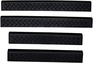 Auto Ventshade 91114 Stepshield Black Door Sill Protector, 4-Piece Set for 2004-2008 Ford F-150 SuperCrew