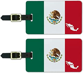 Graphics & More Mexico Home Country Luggage Suitcase Id Tags-Flag, White