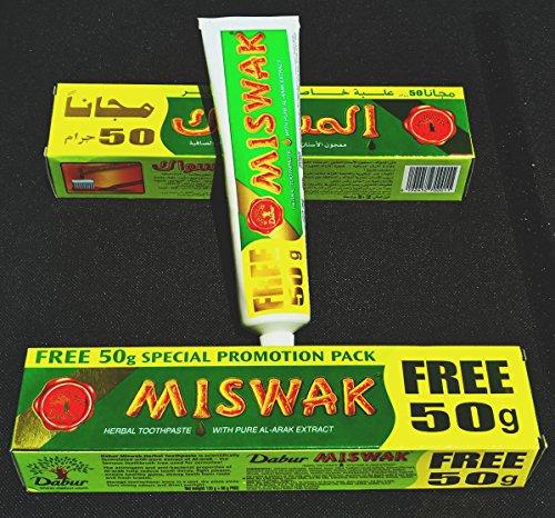 6er Pack - Original Orientalische Dabur Miswak Zahncreme 170g