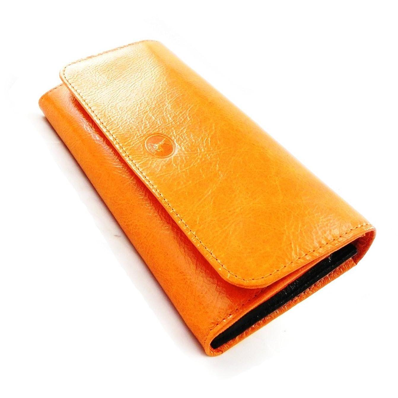 ペリスコープキャラクターあいまいFrandi [I8041] - Grand porte-monnaie Cuir 'Frandi' orange noir vernis