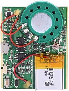 USB音声モジュール 再生ボード サウンドチップ MP3 1W 充電式リチウム電池付き(感光コントロール)