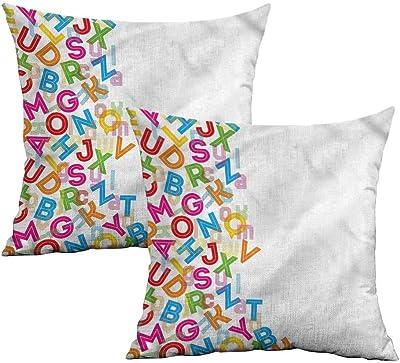 Amazon.com: Khaki Home Grunge Funda de almohada cuadrada ...