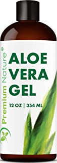 Pure Aloe Vera Gel Lotion - For Face & Dry Skin Psoriasis Eczema Treatment Cold Sore Scar After Bug Bite Sunburn Relief Rash Razor Bump DIY Body Lotion Skincare Moisturizer Packaging May Vary