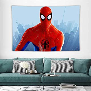 HoMdEfW Hanging Tapestry Spiderman Peter Parker in Spiderman Into The Spider Verse Movie Poster K Multi Functional Hanging Blanket W93 X L70 Inch