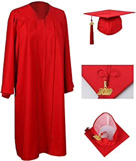 Unisex Adult Matte Graduation Gown Cap Tassel with 2019 Year Charm for High School and College Bachelor