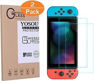 Screen Protector For Nintendo Switch Yosou[2 Pack] Nintendo Switch Screen Protector Tempered Glass Film with Anti-Scratch HD Screen Guard for 6.2 Inch Switch Screen Protector