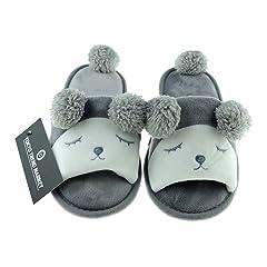 131ac8f8c342 TOKYO-T Womens Animal Slippers Size 5-8 Bunny Sheep Fleece Pl ..