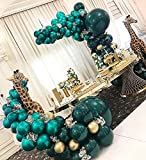 TRENDY AND STUNNING STATEMENT:This Double Stuffed Forest Green and Dark Teal balloon garland will sure be the hit of your party. Chrome Forest Green, Dark Teal make up this garland.With this complete kit you can make a beautiful statement piece that ...