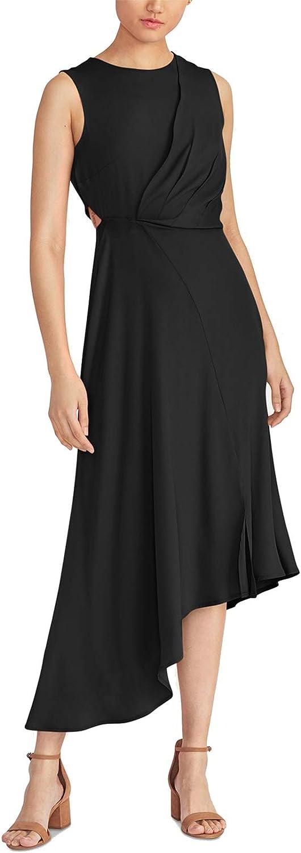 RACHEL New product!! Rachel Outlet SALE Roy Women's Noemie Blac Dress Asymmetrical Draped