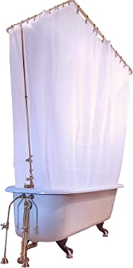 Clawfoot Designs Heavy Duty PEVA Tub Shower Curtain No Odor Anti-Billow 180x70