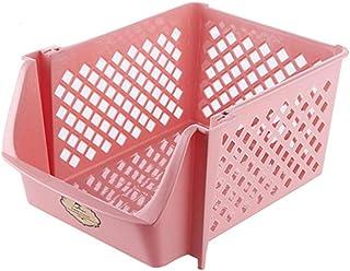 Jiahuijuan Support de Stockage coloré, étagère Creuse empilable de PP pour la Maison, Couleur de Sucrerie, 37.5 * 26.5 * 1...