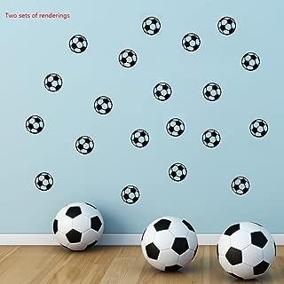 BIBITIME 11x11cm Soccer Ball Sticker Wall Art Decal for Bedroom World Cup Sport Fans Home Decor