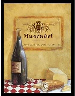 Framed Muscadet by Davidモロッコ22x 28アートプリントポスターワインチーズとパンレストランStill Life French