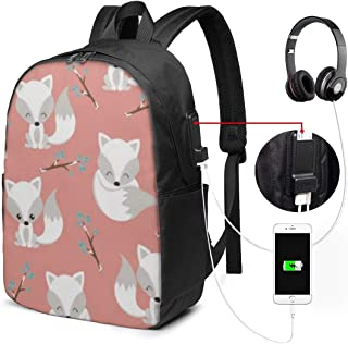 Lawenp Arctic Foxes ON Coral Bandeja de Servicio Mochila de Viaje para computadora portátil, Business Anti Theft Slim Durable con Puerto de Carga USB, College School Computer Bag Bookbag Casual Send