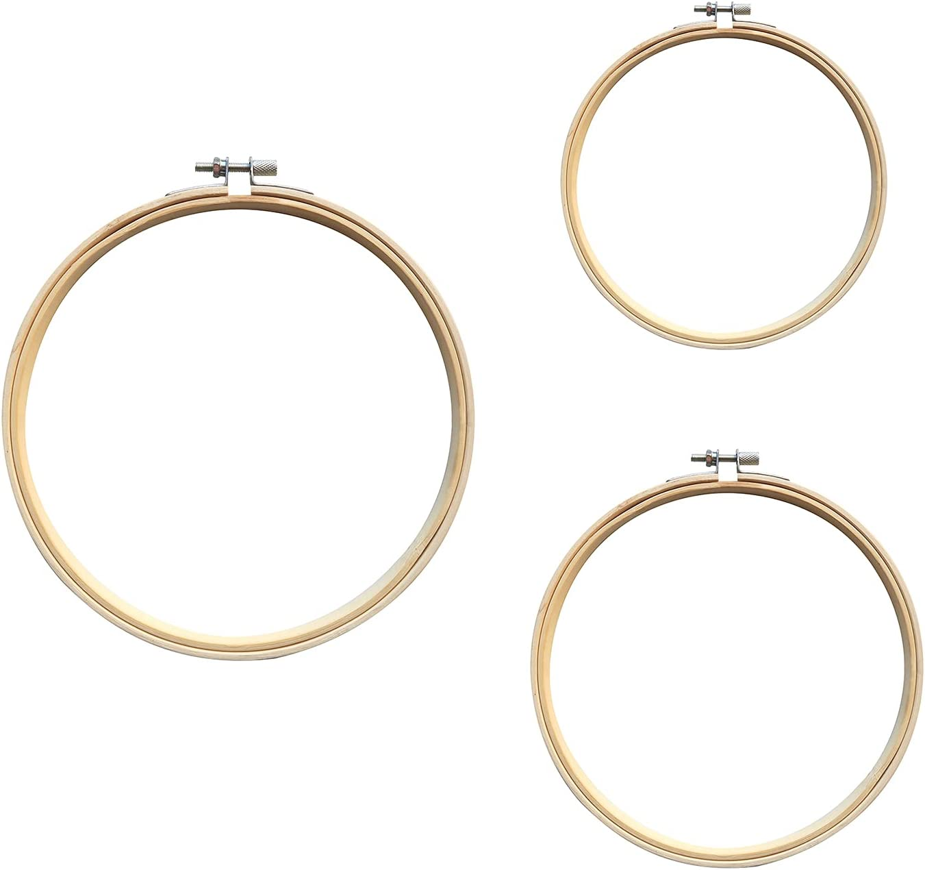 Oakland Mall 3 Pieces Sizes Embroidery Hoops 5 inch to 7 Arlington Mall Circle Bamboo