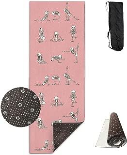 BOBIMU Non-slip Fashion-forward Funny Rabbit Yoga Printed Yoga Mat Aerobic Exercise Mat Pilates Mat Baby Crawling Mat With Carrying Bag Great For Man/Women/Baby