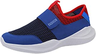 Close-dole Fashion Men's Breathable Mesh Lightweight Wearable Skeleton Sneakers Flat Running Shoes Non-Slip Walking Running Shoes