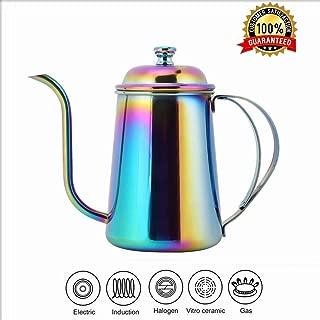 Coffee Pot, 650ML Stainless Steel Coffee Maker Gooseneck Pot Long Mouth Kettle Hand Punch Coffee Kettle
