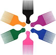 LEADUWAY Hair Pick Comb, Ultra Smooth Fist Hair Picks for Afro Hair, Plastic 6.5 inch Afro Picks for Women and Men, Lift H...