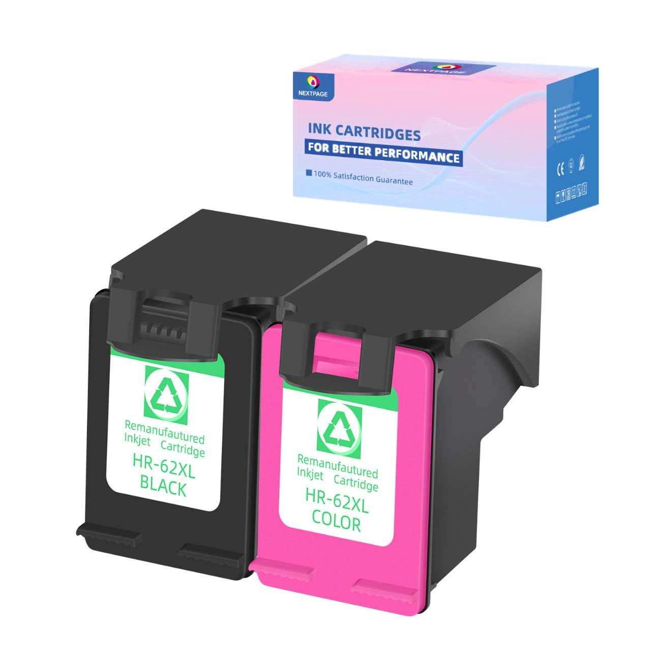 NEXTPAGE - Cartucho de Tinta refabricado para HP 62XL 62XL (Negro y Color 2 Combo Pack) para Uso con HP Envy 5540 5540 5542 5544 5545 5546 (1 Negro, 1 Tri-Color, 2 Unidades): Amazon.es: Electrónica