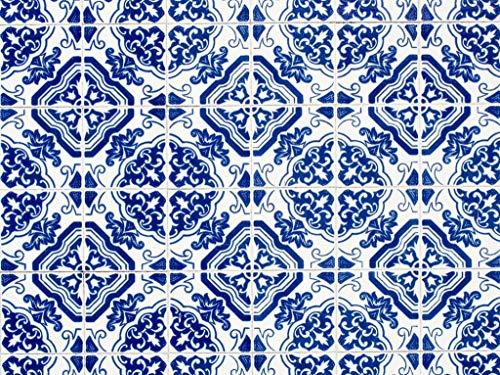 Vinyl vloervinyl | Blue Lissa, Delfts blauwe tegels