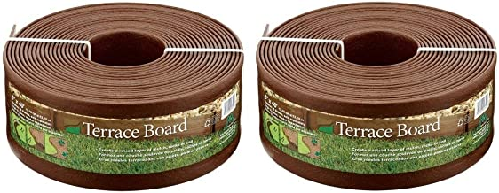 Master Mark Plastics 95340 Terrace Board Landscape Edging Coil, 5-inch x 40-Foot, Brown (Pack of 2)
