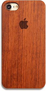 iPhone 7 Plus Case, Nurbo Creative Unique Design Natural Carved Wood Wooden Hard Case for iPhone 7 Plus 5.5 Inch (C)