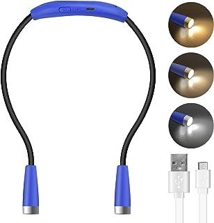 Lampada da Lettura a LED a Libro con Luce USB Ricaricabile 1W Luci del Libro 4 LEDs 3 Cambio di Colore Lampada a Sospensio...