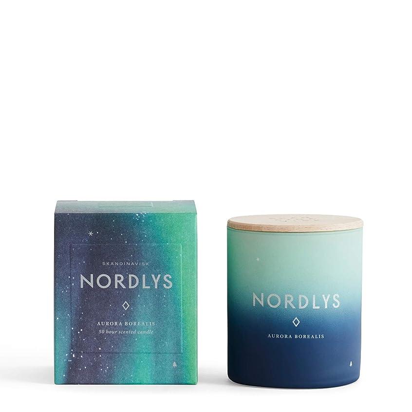 肯定的のモッキンバードSKANDINAVISK センテッドキャンドル NORDLYS (NORTHERN LIGHT) 190g