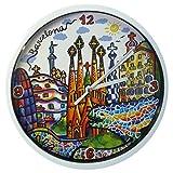 Nadal Reloj Mediano Monumentos Barcelona, Multicolor, 20 x 20 x 3,45 cm