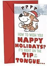 Hallmark Pop Up Funny Christmas Money or Gift Card Holder (Dog Tongue)