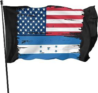 PEARL ANTINO USA Honduras Split Flag 3x5 Flag Strong Long and Durable Yard Holiday and Seasonal Outdoor Home Garden Decora...