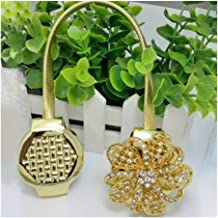 Clip Rings 1pc Crystal Flower Magnetic Retractable Gordijn Clips vastzetmogelijkheden Magnetische Gordijn Clips holdbacks ...