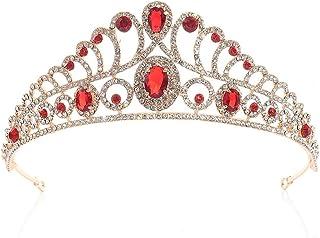 SuDeLLong Diademi della Corona Prom Accessori for Capelli Tiara Crown Principessa Queen Beauty Pageant Corona Corona Sposa...