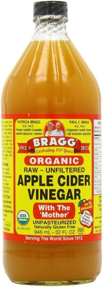 Bragg vTJQnv Organic Raw Apple Cider Vinegar, 32 Ounce (3 Units)