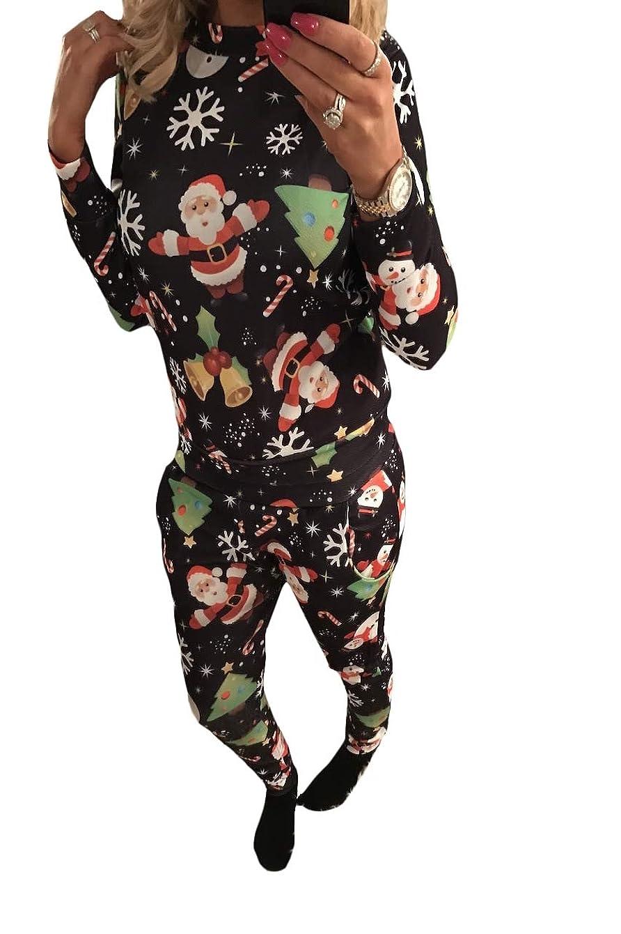 ジョージスティーブンソンのぞき見宣教師Nicellyer 女性のパターンウィークエンド2ピースセットクリスマストラックスーツセット
