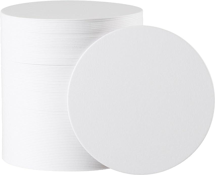 香水不格好驚いたことに白無地 丸型 紙コースター 1mm 100枚